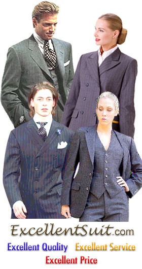 Excellent Suit 129 Us Usa Womens Mens Custom Tailored Suits Made